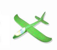 Детский Самолетик для метания Планер 49см, светящийся зеленый
