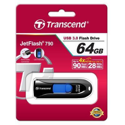 USB флеш накопитель Transcend 64GB JetFlash 790 USB 3.0 .