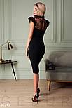 Элегантное вечернее платье футляр с рюшами, фото 3