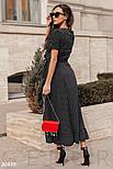 Платье с запахом в горошек черное, фото 3