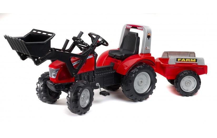 Детский трактор на педалях с прицепом Maccormick FALK 3020AM