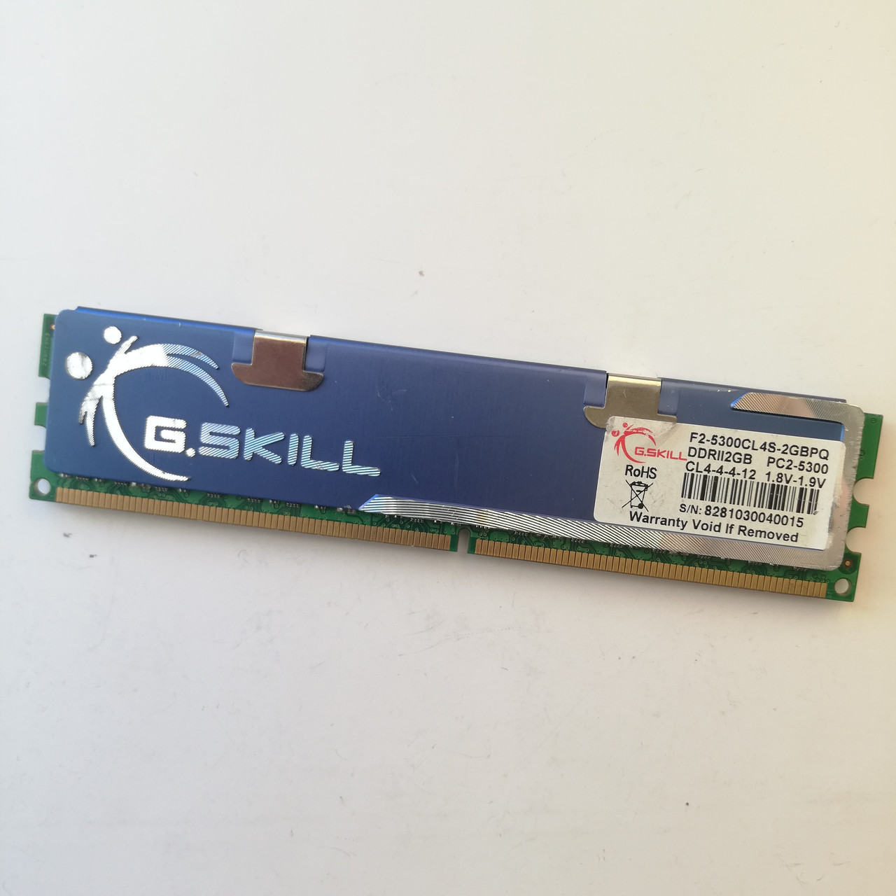 Игровая оперативная память G.Skill DDR2 2Gb 667MHz PC2 5300U CL4 (F2-5300CL4S-2GBPQ) Б/У