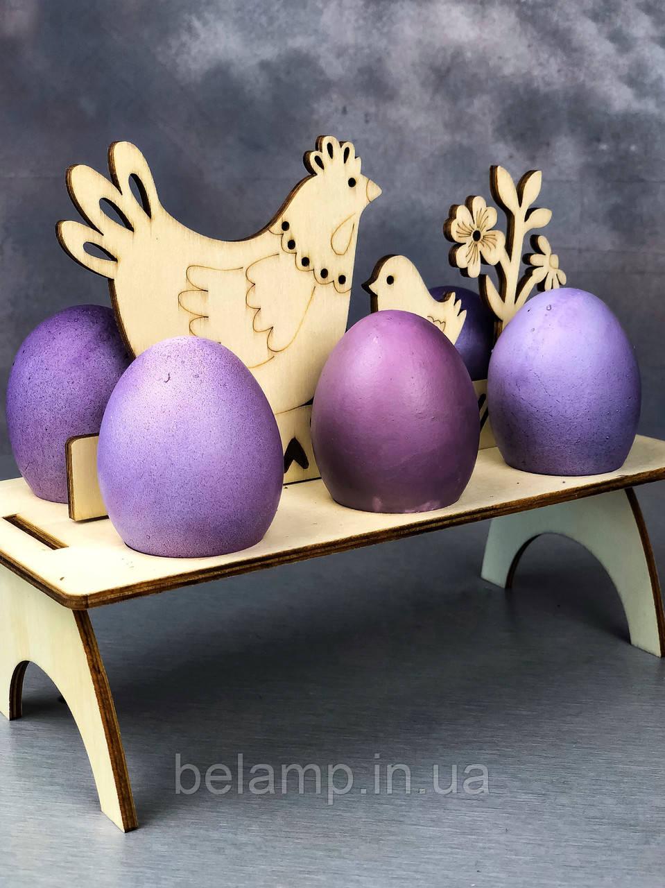 """Деревянная подставка под яйца «Курочка и цыплёнок"""""""