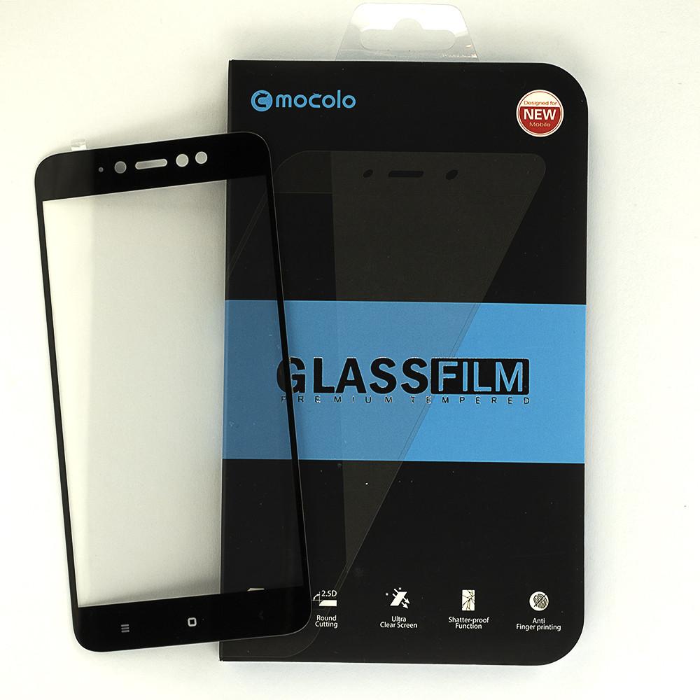 Защитное стекло Mocolo для Xiaomi Redmi Note 5A Prime / Note 5A Pro 3/32 полноэкранное черное