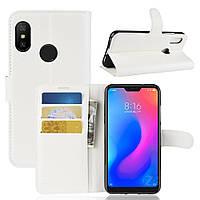 Чехол-книжка Litchie Wallet для Xiaomi Redmi 6 Pro / Mi A2  Lite Белый