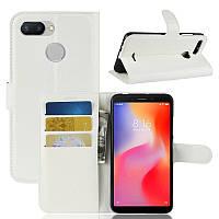 Чехол-книжка Litchie Wallet для Xiaomi Redmi 6 Белый