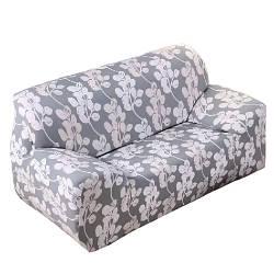 Чехол на диван натяжной 2х 3х местный Stenson R26304 White Grey 145-185 см