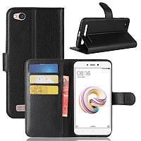 Чехол-книжка Litchie Wallet для Xiaomi Redmi 5A Черный