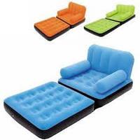 Надувной диван трансформер BestWay внеший электр. насос (ш-152см)