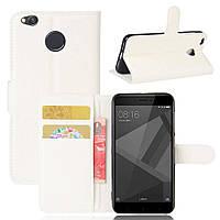 Чехол-книжка Litchie Wallet для Xiaomi Redmi 4X Белый