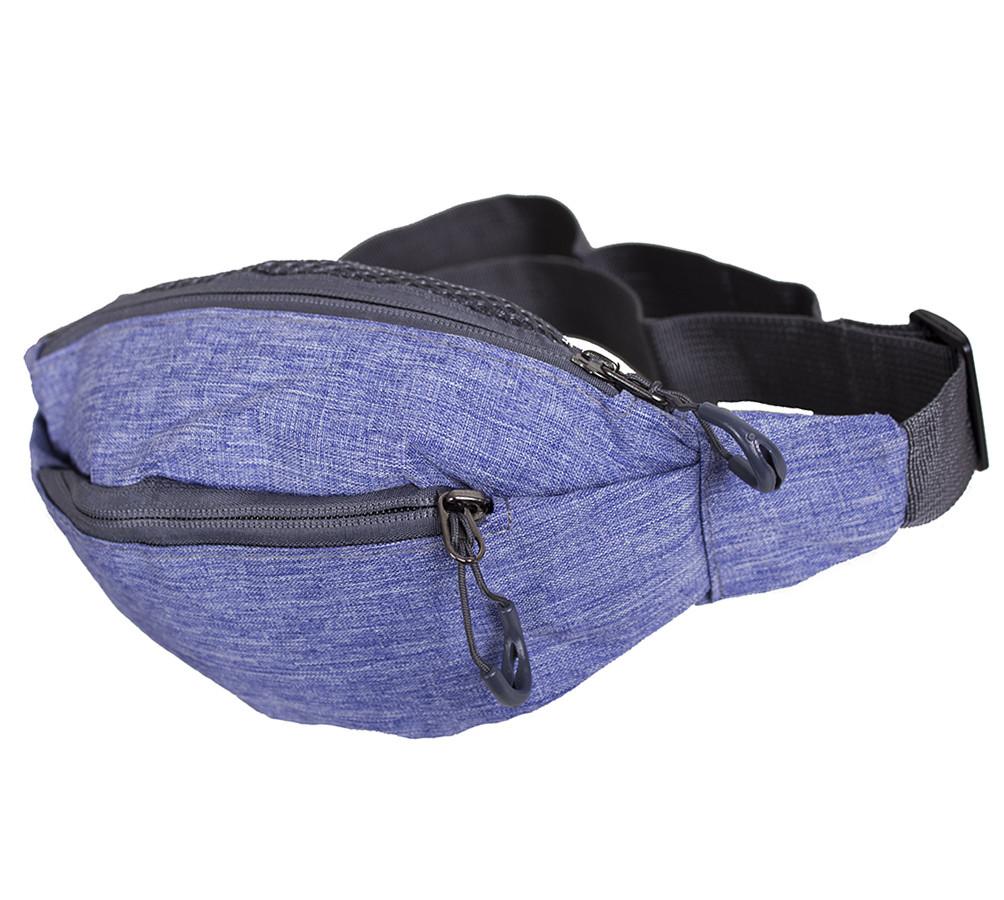 Мужская текстильная сумка на пояс Y302-21JBLUE синяя