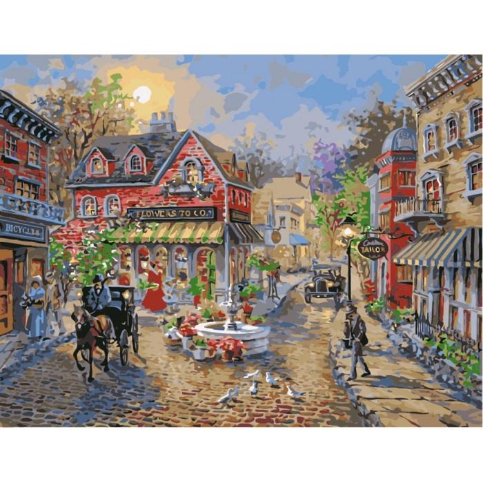 Картина по номерам Идейка - Старый городок 40x50 см (КНО3526)