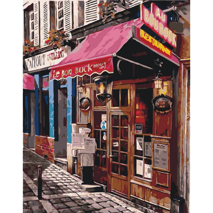 Картина по номерам Идейка - Любимый магазин 40x50 см (КНО2195)