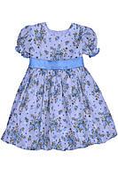 """Платье нарядное детское из х\б ткани с поясом М -1030  рост 80 86   92 98 и 104 тм """"Попелюшка"""", фото 1"""