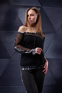 Лонгслив-сетка Totalfit B21-P74 M Черный