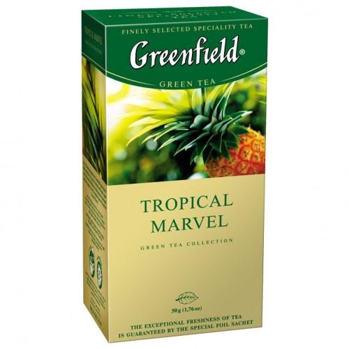 Чай зелений з цитрусом, ананасом і імбиром Greenfield Tropical Marvel 25 пак.