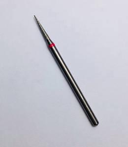 Насадка алмазна голка 12 мм, червона (середня насічка)