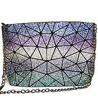 Клатч на блискавці Geometry Glitter Cosmos
