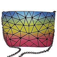 Клатч на блискавці Geometry Rainbow