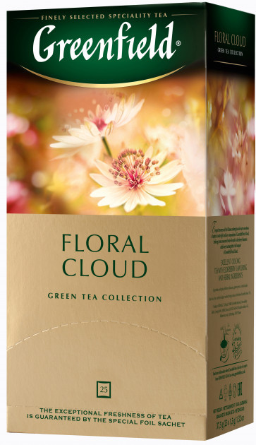 Чай зеленый с абрикосом Greenfield Floral Cloud 25 пак.