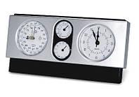 Метеостанция Барометр, Гигрометр, Термометр, Влагомер, Часы, Будильник (квадрат горизонтальный)
