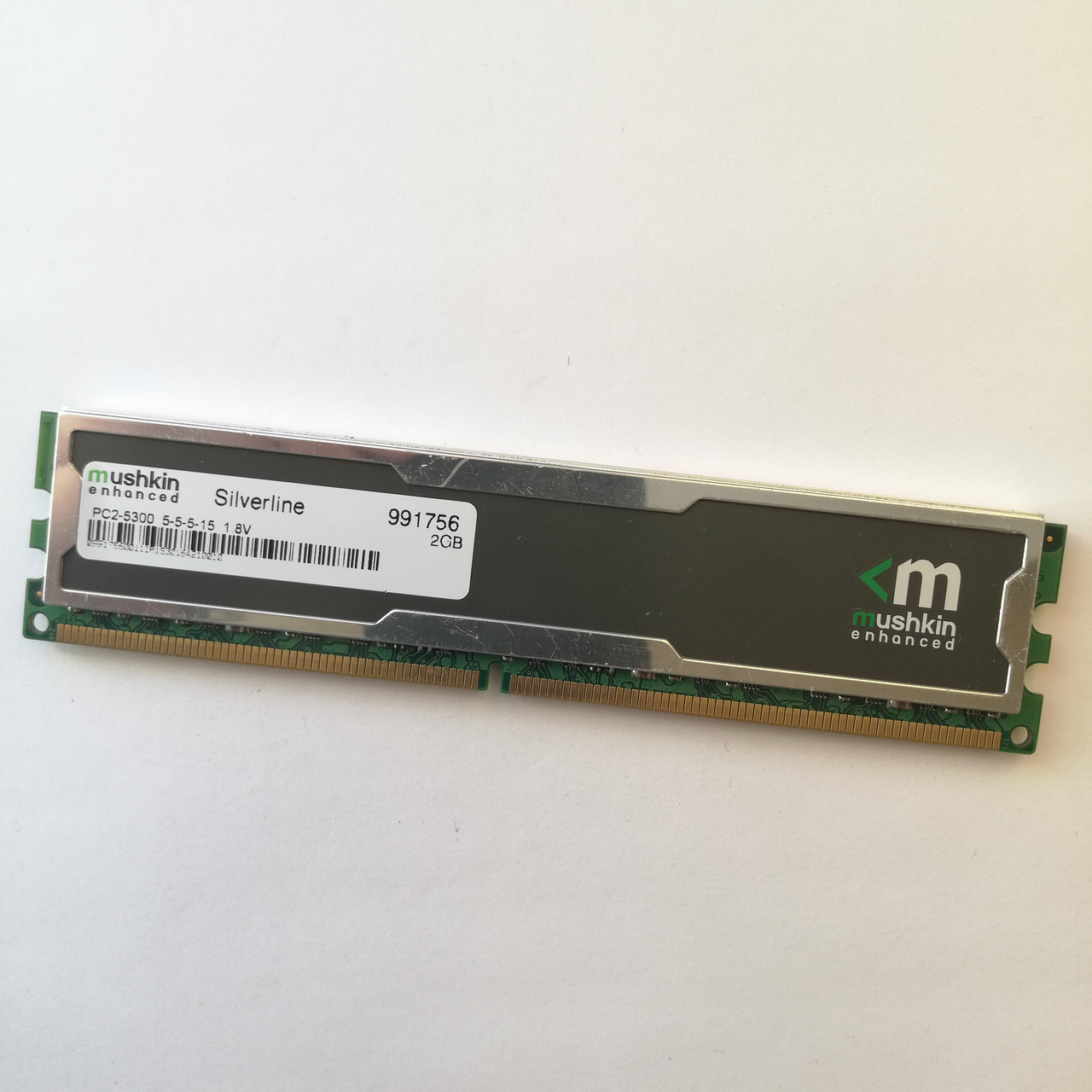 Игровая оперативная память Mushkin DDR2 2Gb 667MHz PC2 5300U CL5 (991756) Б/У