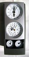 Метеостанция Барометр, Гигрометр, Термометр, Влагомер, Часы, Будильник (квадрат вертикальный), фото 1