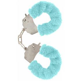 Качественные наручники Toy Joy (Голландия) Furry Fun, голубые