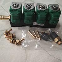 Газовые форсунки Green gas на 4 цилиндра   зеленые 3ом