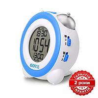 Электронный будильник голубой GOTIE GBE-200N #E/S