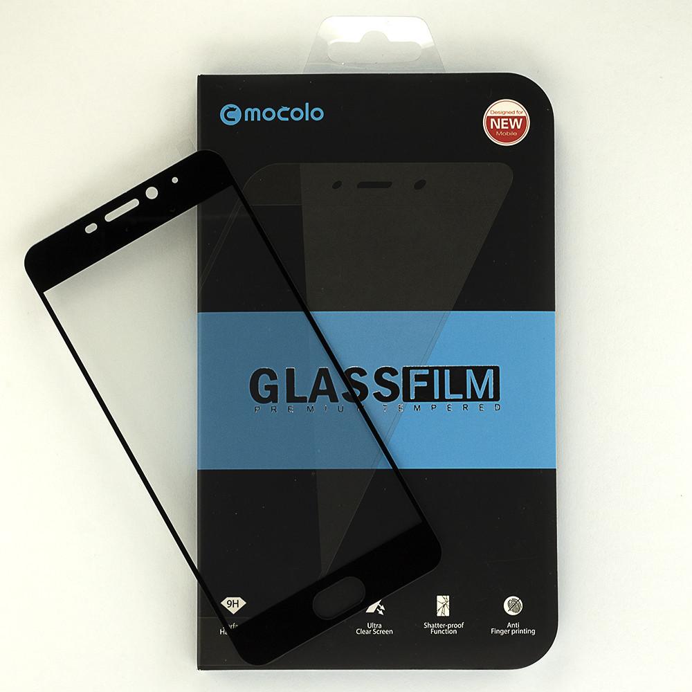 """Защитное стекло Mocolo для Meizu M6 5.2"""" полноэкранное черное"""