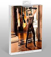 Эротический комбинезон Sheer Jacquard Bodystocking от BACI Lingerie