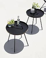 Лаунж столик круглый д.45см черный