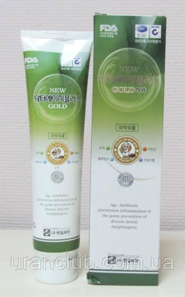 Зубная паста New Dr.Ag Dental Plus Gold с серебром и зеленым чаем , 150 г