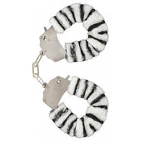 Качественные наручники Toy Joy (Голландия) Furry Fun, белые