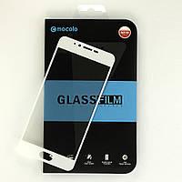 Защитное стекло Mocolo для Meizu M5  полноэкранное белое 5.2, фото 1