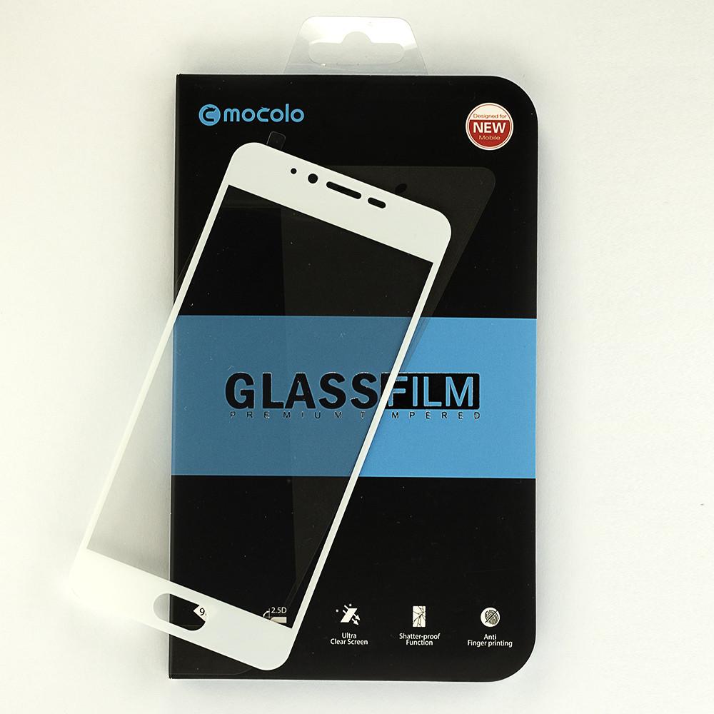 Защитное стекло Mocolo для Meizu M5  полноэкранное белое 5.2