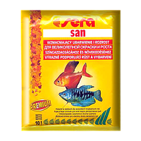 Sera San корм для улучшения цвета всех декоративных рыб (хлопья), 10 г