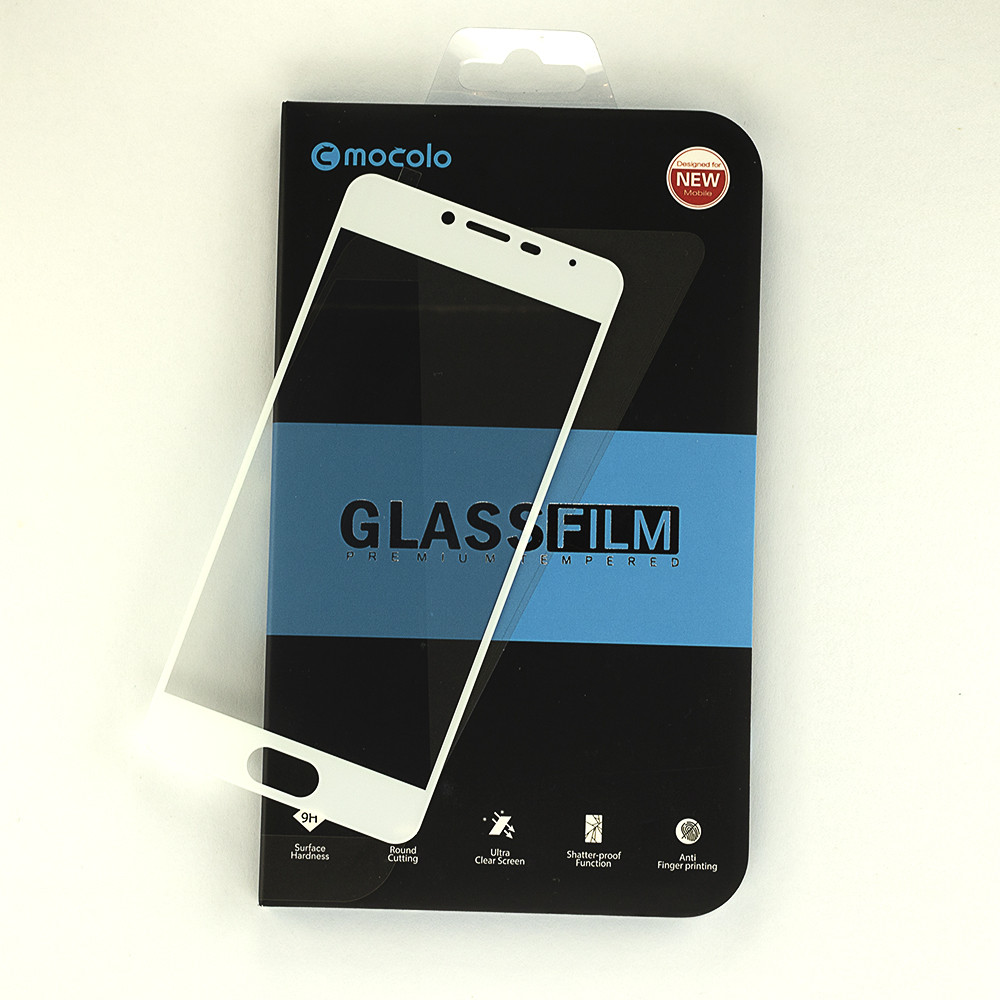Защитное стекло MOCOLO для Meizu M3 / M3s / M3 Mini полноэкранное белое