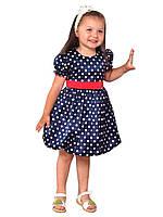 Платье нарядное детское из атласа с поясом М -1030 на х\б подкладе  рост 80 86  92. 98. 104, фото 1