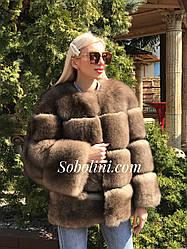 Полушубок из песца Saga furs Финляндия