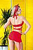 Раздельный купальник с юбкой Totalfit KR5-C4 XXS Красный, фото 2