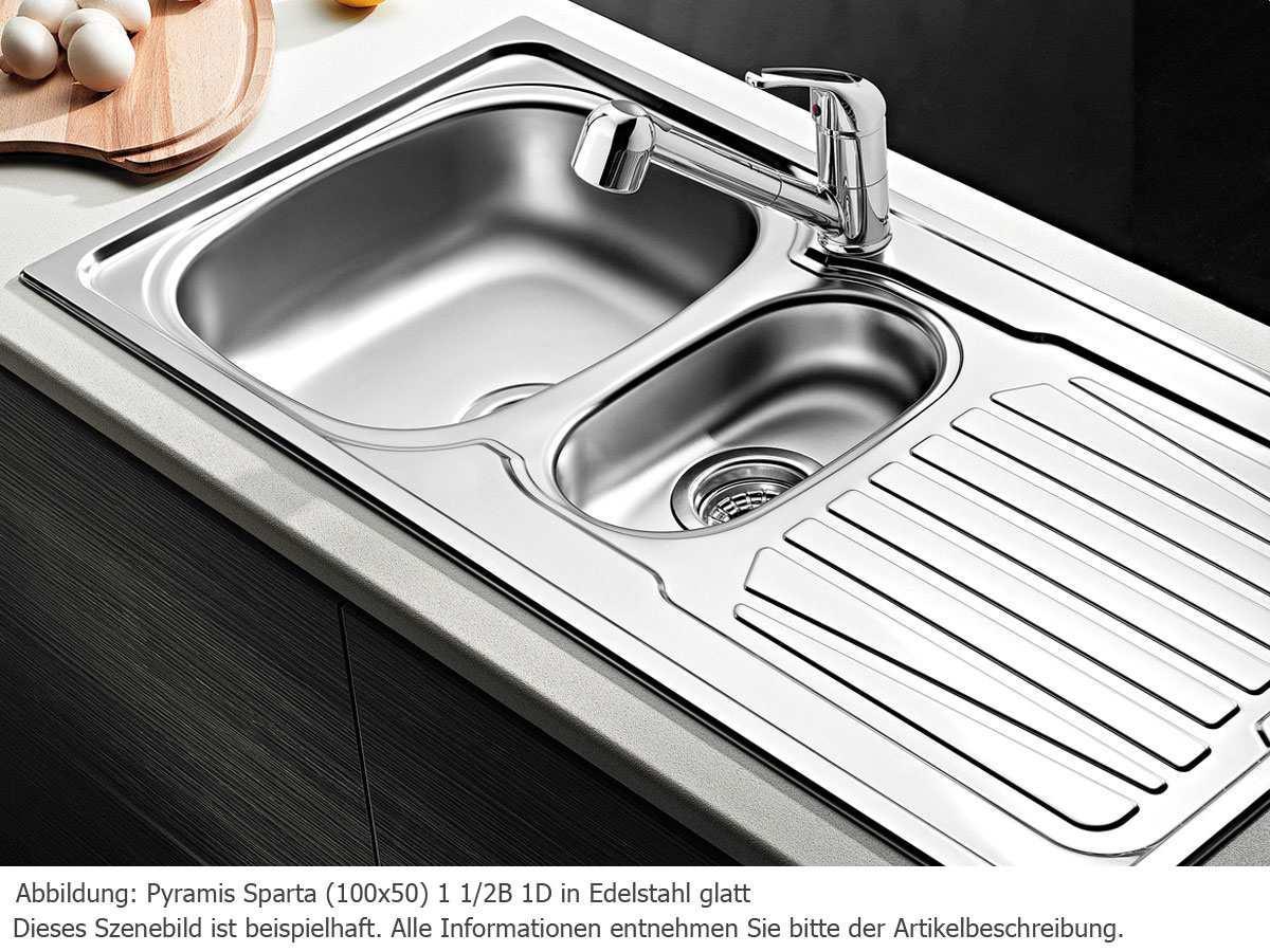 Кухонная мойка PYRAMIS SPARTA (100*50) 1 1/2B 1D Linen (92 mm)