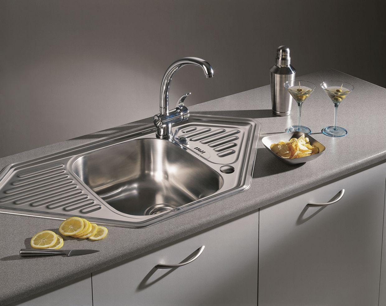 Кухонная мойка PYRAMIS MEDUSA CORNER 1B 2D Linen (92 mm)