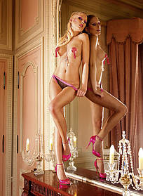 Эротические трусики French Cut Heart Mesh Bikini от BACI Lingerie