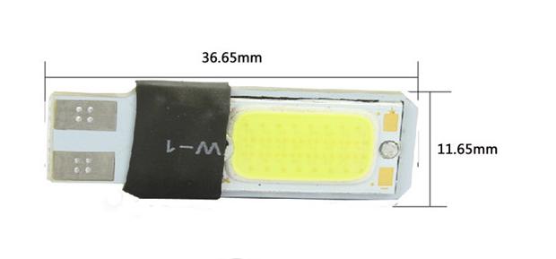 T10  W5W светодиодная подсветка для автомобиля