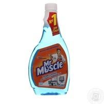 Средство Мистер Мускул для мытья стекол и поверхностей со спиртом запаска 500мл
