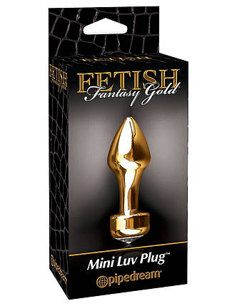 Анальна пробка Pipedream Fetish Fantasy Gold Mini Luv Plug, фото 2