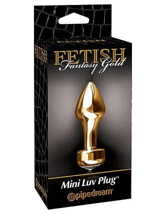 Анальная пробка Pipedream Fetish Fantasy Gold Mini Luv Plug, фото 2