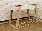 """Сучасний стіл """"Белуччі"""" зі скла і дерева в стилі loft, фото 6"""